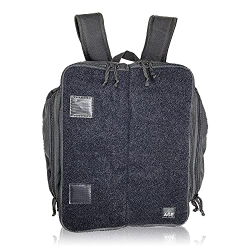 Cornhole Velcro Patch Backpack - Holds Up to Six Cornhole 4 Bag Sets - Includes 2 Side Pockets, 2 Phone Holders, 2 Straps, Headphone Passthrough Ports