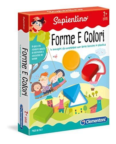 Clementoni- Sapientino Baby-Forme e Colori Giocco Educativo con Tessere Illustrate, Multicolore, 11955