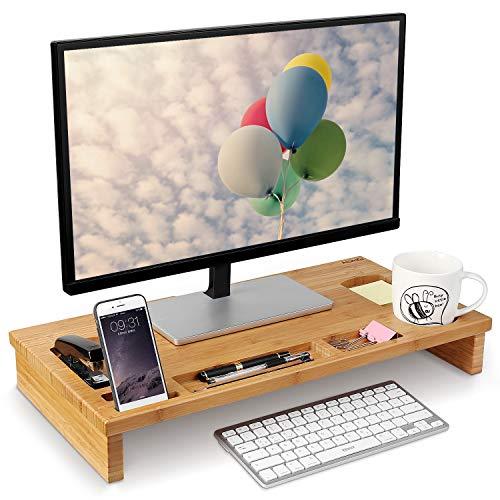 Homfa Soporte para Monitor Soportes para Pantallas de bambú Mesas de...