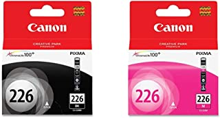 Genuine Canon CLI-226 Ink Cartridge, Black & Genuine Canon CLI-226 Ink Tank, Magenta