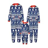 DISCOUNTL Passender Weihnachtspyjama, Eltern-Kind-langärmeliger Schlafanzug mit Weihnachtsdruck, einteiliger Schlafanzug, Morgenmäntel für Frauen Nachthemden Gr. XX-Large, Vater