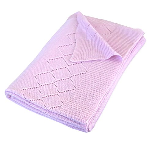 Bumps2Babies Primrose Bamboo Knit Blanket | Pink Colour | Blanket for Girl | Nursery, Cot, Pram for Infants and Toddlers | Baby Shower Gift