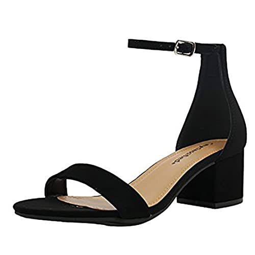 95c618ec110d61 City Classified Comfort Womens A3 Block Heel Dress Sandal Open Toe Ankle  Strap Heeled Sandals