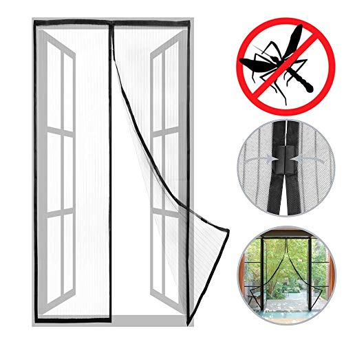 Preisvergleich Produktbild PrimeMatik - Moskitonetz für Tür 75 x 215 cm Fliegengitter mit Magnetverschluss
