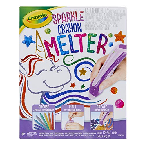 Crayola Crayon Melter Glitter, Crayon Melting Art, Gift for Kids, Ages 8, 9, 10, 11, Multi