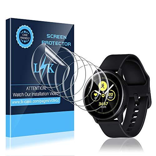 LK Compatibile con Samsung Galaxy Watch Active 2 40mm Pellicola Protettiva,6 Pezzi,Sensibile al Tatto, Senza Bolle, HD Trasparente TPU Pellicola, LK-X-10