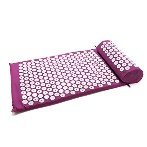 WT-DDJJK Massagekissen, Akupressurmatte Kissen Set Akupunktur Matte Spike Yoga Matte für Massage Wellness