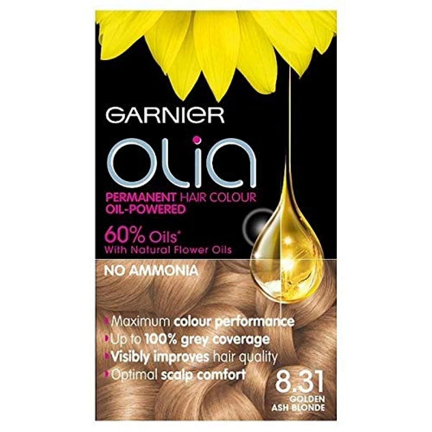 手配するパトワみすぼらしい[Garnier ] 永久染毛剤黄金の灰Oliaガルニエブロンド8.31 - Garnier Olia Permanent Hair Dye Golden Ash Blonde 8.31 [並行輸入品]
