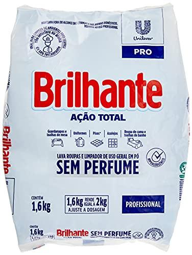 Lava-Roupas e Limpador de Uso Geral em Pó Profissional sem Perfume Brilhante Ação Total Pro Pacote 1, 6kg, Brilhante