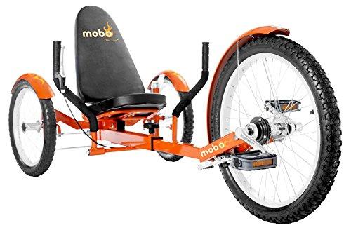 "Mobo Cruiser Triton Pro Adult Tricycle for men & women. Beach Cruiser Trike. Adaptive 3-Wheel Bike , Orange, 28 x 29 x 48 inches (61"" extended)"