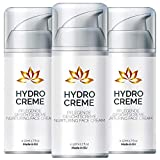 Hydro Creme – Anti Aging Skin Care | Feuchtigkeitscreme Gesicht (3 Flaschen)