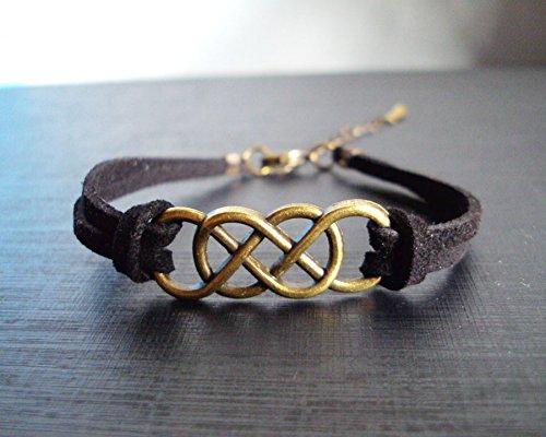 Dubber infinity bracelets,men bracelets,women bracelets,black cord bracelets,charm bracelets