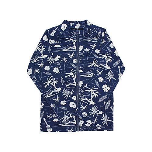 SHISKY ラッシュガード シスキー 水着 長袖 ジップアップ スイムウエア 子ども水着 ヤシの木 迷彩 カモフラ...
