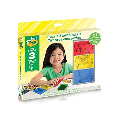 Crayola My First Puzzle Stamping Kit, Holiday Toys, Wood Toy, Educational Kids Toy, Wooden Learning, Gift for Boys and Girls,...