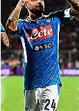 CLQ Camiseta Naples No. 10 Maradona Jersey Suit Campeón de la Copa del Mundo Edición Conmemorativa King Set para fanáticos de los Regalos de fútbol con Collar de 1PCS-XXL