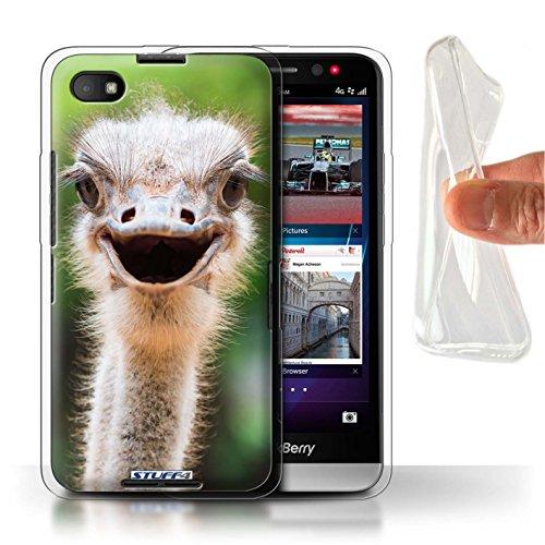 Hülle Für BlackBerry Z30 Wilde Tiere Strauß/Emu Design Transparent Dünn Flexibel Silikon Gel/TPU Schutz Handyhülle Case