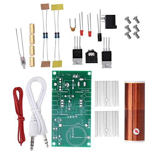 Bobina Tesla claramente hecha a mano, Mini bobina Tesla con aislamiento de luz, Música de computadora para transmisión de energía inalámbrica
