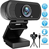 Webcam 1080P with Microphone Built-in, Web Cam 30fps Full HD, Plug&Play USB Computer/Laptop/PC Web Camera for Video Calling/Studying/Gaming/Recording/Zoom Meeting/YouTube/Skype/FaceTime/Hangouts