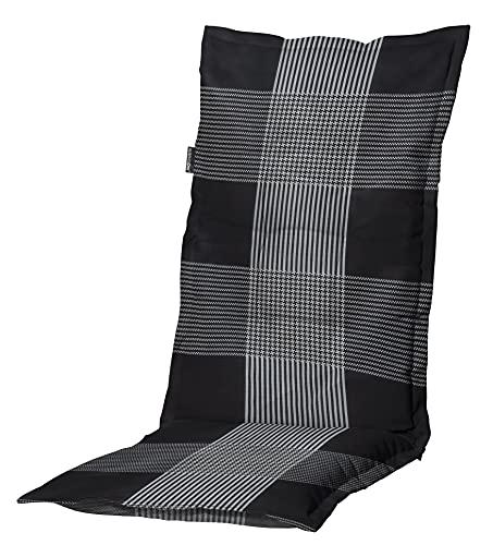 8 cm Luxus Hochlehner Auflage C 184 grau schwarz kariert