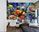Fondo de pantalla Mundo submarino Acuario Estéreo Peces tropicales Tv Fondo Pared Papel tapiz no tejido Papel tapiz 3D Decoración-350cm×256cm