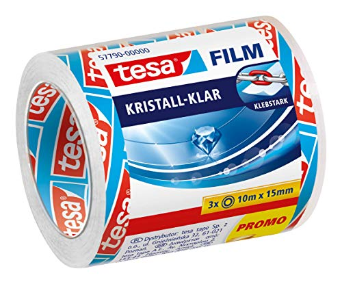 Tesa film kristall-klar, 10m:15mm, 3 Rollen im Sparpack