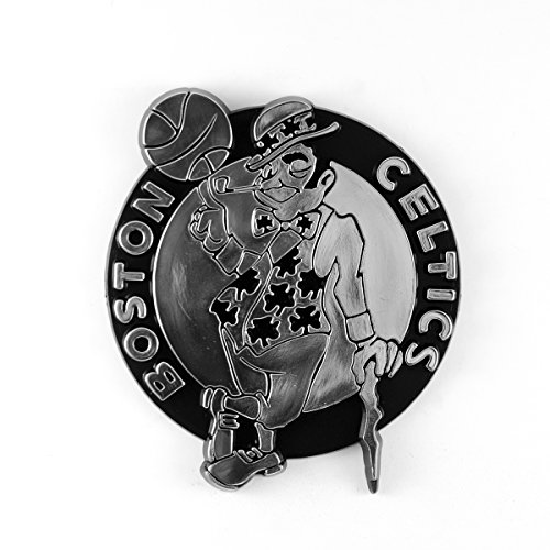 NBA Boston Celtics Chrome Emblem, 3.25' x 3.25', Gray