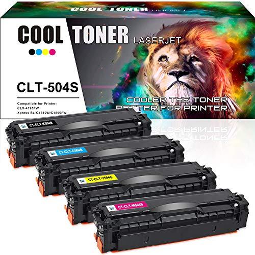 Cool Toner Kompatibel Tonerkartusche als Ersatz für Samsung CLT-K504S CLT K504S C504S M504S Y504S Xpress C1860FW C1810W CLX-4195FN CLX-4195FW(Schwarz,Cyan,Gelb,Magenta, 4er-Pack)