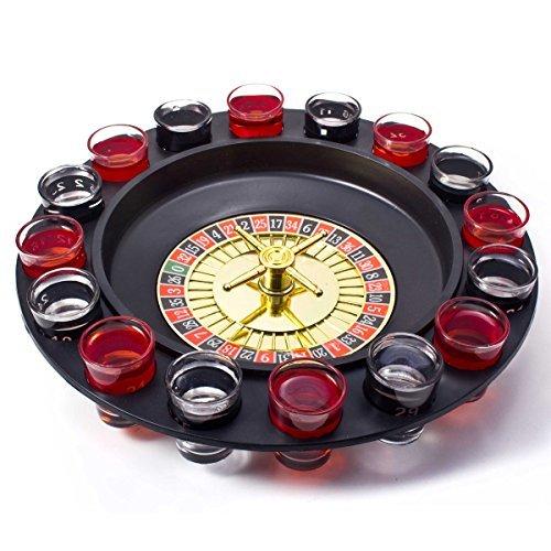 GOODS+GADGETS Party Trinkspiel Roulette-Spiel Saufspiel Partyspiel Casino Partyspiel