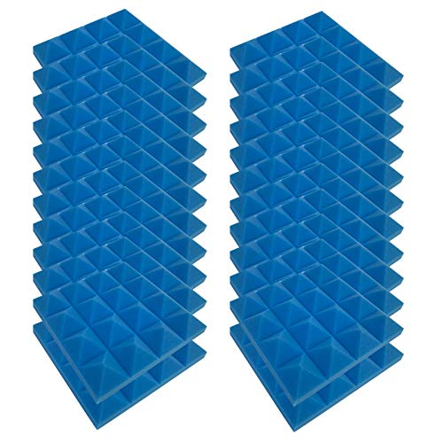 4444 Akkustik Platten Akustikschaumstoff Fliesen DäMmung Wanddeko Pyramiden Noppenschaumstoff Breitbandabsorber Decke Foam Feuerhemmend Akustikschaumstoff Fliesen
