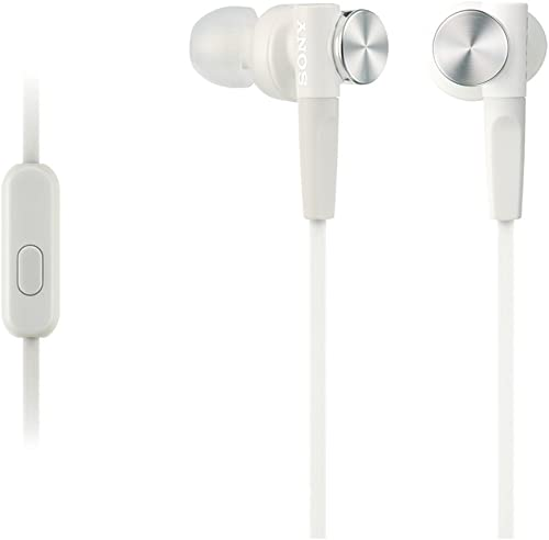Sony MDR-XB50AP in-Ear Extra Bass Headphone with in-Line Control - White