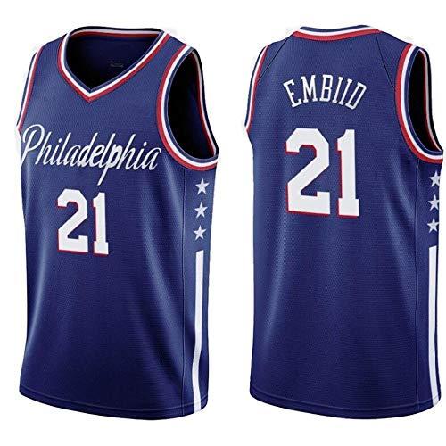 LHYAN Jersey Baloncesto (Joel Embiid-21) Unisex Secado rápido de los Hombres de Baloncesto Jersey for Deportes al Aire Libre y Regalos for los niños de la Camiseta (Color : A, Size : XXL)