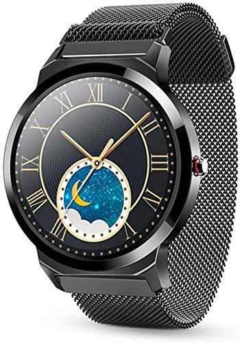 Bluetooth Smart Uhren Full Touch / Runde Smart Watch Männer Business Fashion Frauen Smart Watch Android IOS Unterstützung Multi-Sport-Modi Health Tracker Uhr für Männer Frauen Kinder ( Color : C )