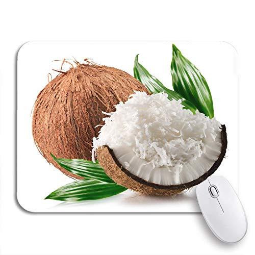 Gaming Mauspad geriebene Kokosnüsse Flocken das weiße Pulver Obst Lebensmittel frische rutschfeste Gummi Backing Computer Mousepad für Notebooks Mausmatten