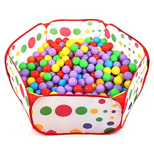 SKL Lalawow Faltbar Bällebad Ballpool Bällepool für 1-3 jährige Baby Kinder OHNE Bälle (Pool-A)
