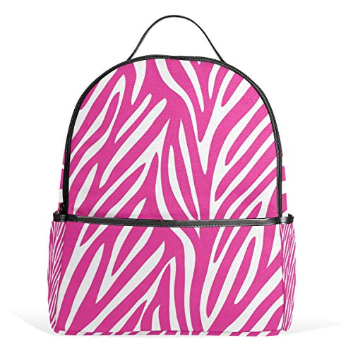 COOSUN Red Zebra School Rugzak lichtgewicht canvas boek tas voor jongens meisjes kinderen