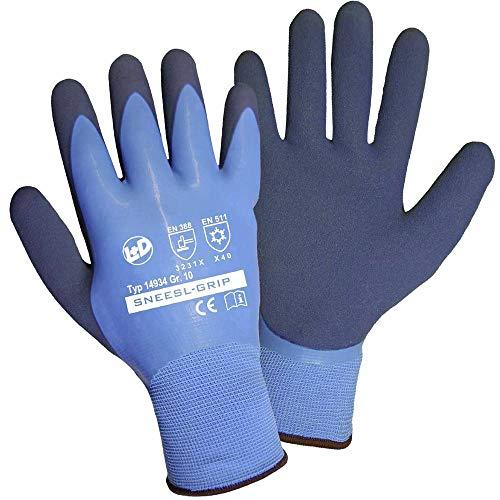 L+D Griffy SNEESL-GRIP 14934-10 Latex Arbeitshandschuh Größe (Handschuhe): 10 EN 388:2016, EN 511 1 St.