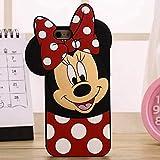 para iPhone 5 5s 5C SE 6 6s Plus 3D Funda de Silicona Suave Funda Trasera de teléfono Funda de Piel para iPhone 7 7Plus 8 8Plus X XS XR XS MAX FundaiPhone 5C Minnie Mouse
