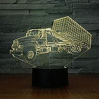 3Dタッチナイトランプテーブルランプ小さなステレオランプ寝室の雰囲気クリエイティブベッドサイドランプライト3D漫画ナイトライトベビースリープクリエイティブランプUsb7カラーオプティカル