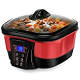 COSTWAY 8 in 1 Multi-Cooker, 1.5 quarts, Red