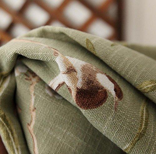style américain Rural Atterrissage Semi-ombrage Rideau Laissez tomber Tissu Produit fini Chambre Salon fenêtre en saillie , cloth , 1pc(200x270cm)