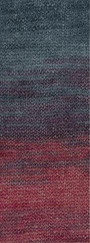 Lana Grossa Silkhair print 352 - Rot/Aubergine/Grüngrau