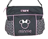 Disney Minnie Mouse Diaper Bag & Changing Pad , Lightweight Travel Tote, Baby Bottle Pockets