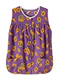 AmeriMark Easy-Care Snap Front Cobbler Aprons Vest with Two Patch Pockets Purple Multi XL