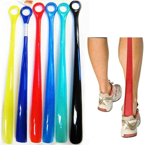 Lot of 6 Plastic Shoehorns 18.5' Extra Long Jumbo Large Shoe Horn Handle Sturdy