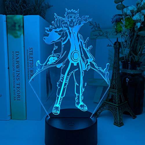 3D Lampe Baby Figur Nachtlicht für Zuhause Schlafzimmer Dekor Kinder Kind Geburtstagsgeschenk Acryl RGB Led Nachtlicht-DM 21_7 Farben keine Fernbedienung
