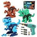 Kids Toys Stem Dinosaur Toy: Take Apart Dinosaur Toys for kids 3-5| Learning Educational Building construction Sets with Electric Drill| Birthday Gifts for Toddlers Boys Girls Age 3 4 5 6 7 8 Year Old by SHANTOU CITY KONGLONGDAO TOYS FACTORY