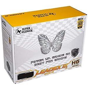 Super Flower Leadex III Gold 750W 80+ Gold, ECO Fanless & Silent Mode, Full Modular Power Supply, Fluid Dynamic Bearing Fan,10 Year Warranty, SF-750F14HG (750W)