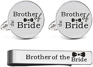 Custom Personalized Wedding Engraved Cuff Links Tie Clip Set Engrave Wedding Cufflinks Jewelry Gift