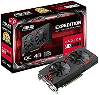 ASUS Expedition Radeon RX 570 - Tarjeta gráfica (4 GB GDDR5, 256 bits, 7000 MHz, OpenGL 4.5, DVI-D, HDMI 2.0) Negro