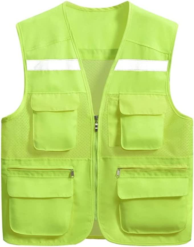 HYFDGV Outlet SALE Fishing Vests for Men Men's All items in the store Vest Multi Breathable